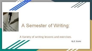A Semester Of Writing.
