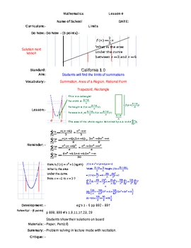A short introduction to Limits