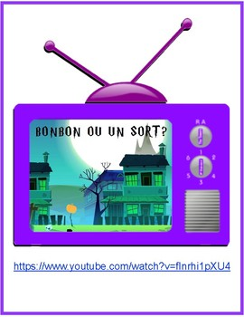 "A simple ""fill in the blanks"" sheet for Youtube's ""Bonbon ou un sort?"""