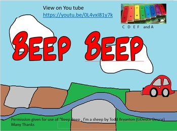 song with percussion based on Beep beep I'm a sheep. Non specialist friendly