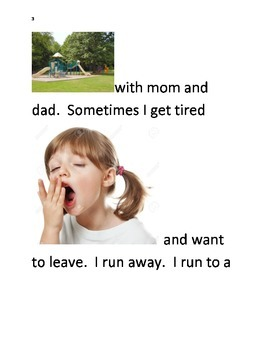 A social story about the reasons a child shouldn't run away from their parents