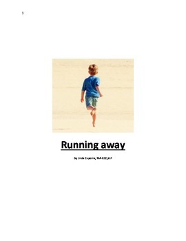 A social story about the reasons a child shouldn't run awa
