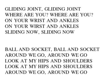 A song about your joints