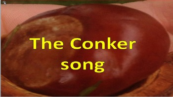 """A song for autumn."""" I've got a conker with tambourine parts."""" Kindergarten video"""