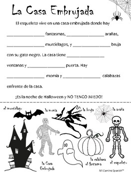 A spooky Halloween activity for Spanish students! (Minimal prep!)