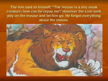 A story of lion and mouse