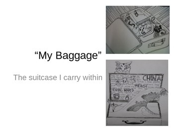A suitcase and art!