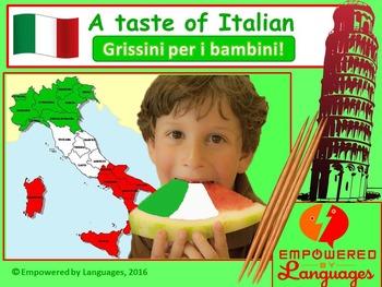 A taste of Italian: Grissini per i bambini!