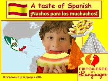 A taste of Spanish:  ¡Nachos para los muchachos!