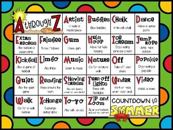 A through Z Countdown to Summer