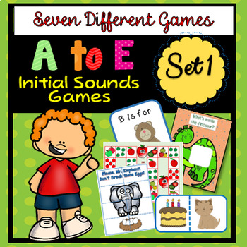 A to E Initial Sounds-Five Different Games