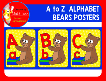 A to Z Alphabet Bears Posters