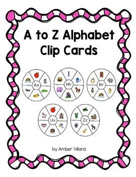 A to Z Alphabet Clip Cards