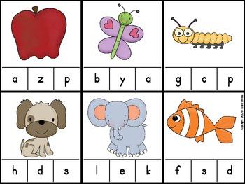 A to Z Alphabet Clip It Games