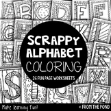 Alphabet Scrappy Coloring Pages
