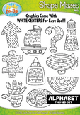 A to Z Alphabet Shaped Mazes Clipart {Zip-A-Dee-Doo-Dah Designs}