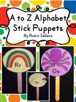 A to Z Alphabet Stick Puppets