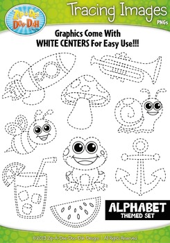 A to Z Alphabet Tracing Image Clipart Set 1 — Includes 26 Graphics!