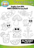 A to Z Alphabet Tracing Image Clipart Set 1 {Zip-A-Dee-Doo-Dah Designs}