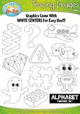 A to Z Alphabet Tracing Image Clipart Set 2 {Zip-A-Dee-Doo-Dah Designs}