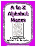 A to Z Alphabetical Order Mazes