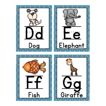 A to Z: Animal Alphabet Posters