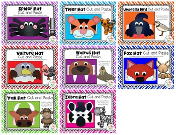 A to Z Animal Hats Cut and Paste Set