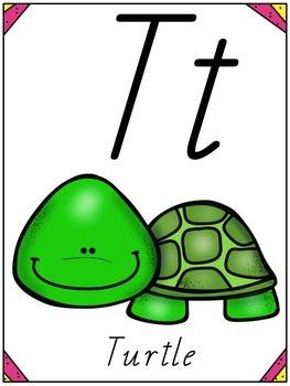Animal Alphabet Posters - QLD Precursive Font