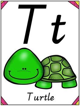 Animal Alphabet Posters - Victorian Cursive