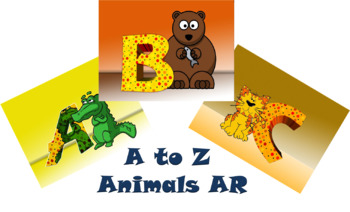 A to Z Animal Zoo Ar app and images