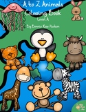 A to Z Animals Coloring Book-Level A