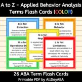 A to Z - Applied Behavior Analysis Terms - Flash Cards - by AllDayABA