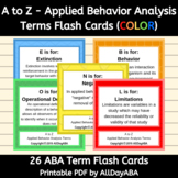 A to Z - Applied Behavior Analysis Terms - Colored Flash C