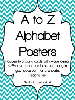 A to Z Beachy Classroom Posters