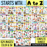 A to Z Beginning Sounds Clip Art (COMPLETE BUNDLE!)