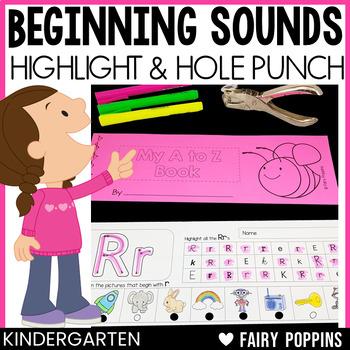 A to Z Beginning Sounds - Highlight & Hole Punch Fun!