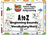A to Z Beginning Sounds Vocabulary Mats