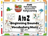 A to Z Beginning Sounds Vocabulary Mats