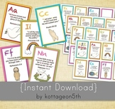 A to Z Bible Verse Flashcards - ABC Alphabet Scripture Verses Printable Fi
