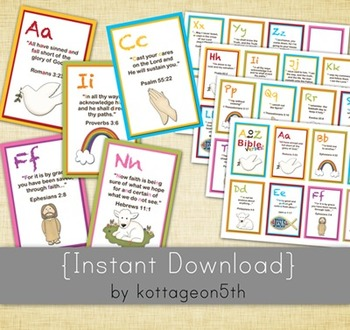 image regarding Abc Flash Cards Printable identified as A toward Z Bible Verse Flashcards - ABC Alphabet Scripture Verses Printable Fi