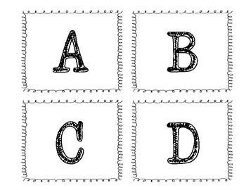 A to Z Book Bin Labels