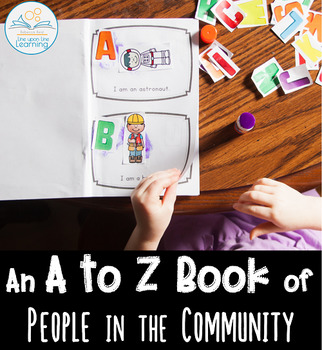 A to Z Book of People in the Community Cut-and-Paste Booklet