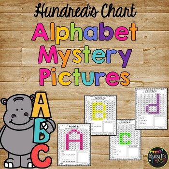 A to Z Can You Find Me?  Alphabet Letters Hundreds Chart Mystery Pictures