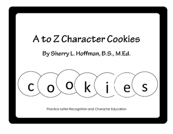 A to Z Character Cookies