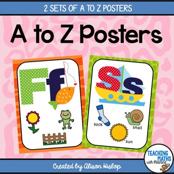 A to Z Classroom Posters