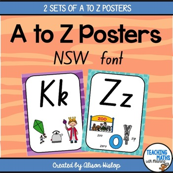 A to Z Classroom Posters - New South Wales Foundation Font Edition