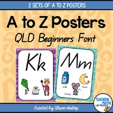 A to Z Classroom Posters - Queensland Beginner Font Edition