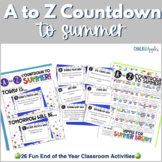 End of the Year Activity: A to Z Countdown to Summer