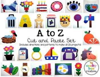 A to Z  Cut and Paste Set