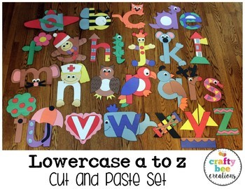 A to Z Lowercase Letter Cut and Paste Set